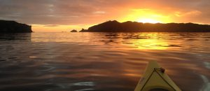 sunset kayak West Cork